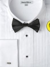 White Formal French Cuff Tuxedo