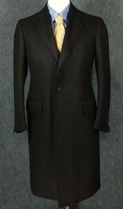 ZC350 Luxurious Full-Length Liquid Jet Black Cashmere and Wool