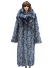 GD743 Winter Fur Full Length Crystal Fox Color Jacket