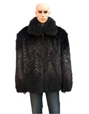 Mens Fur Blue Mink