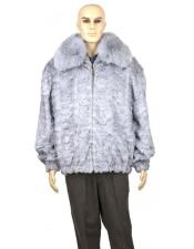 GD889 Mens Fur Sapphire Genuine Mink With Full Skin