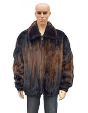 GD895 Mens Fur Whiskey Full Skin Genuine Mink Two
