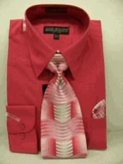 Fuschia Dress Shirt Tie Set