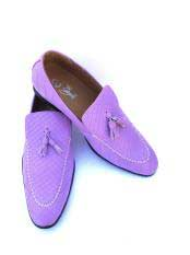 JSM-5021 Mens Slip-On Style Gator Lilac ~ Light Purple