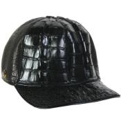PNK51 Genuine Ostrich Alligator skin Exotic Skin Baseball Cap