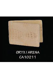 OU2V cai ~ Alligator skin Hornback Leather Wallet by