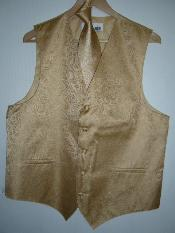 GOLD DRESS TUXEDO WEDDING VEST