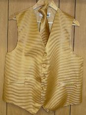KA1311 gold Dress Tuxedo Wedding Vest & Tie set