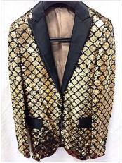 GD1225 Mens Gold Unique Shiny Fashion Prom Flashy Fashion