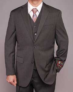 Gray Teakweave 2-button Vested Suit
