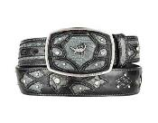 Fashion Western Belt Gray