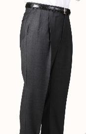 Product#LA7077GrayParkerPleatedSlacksPantsLinedTrousers