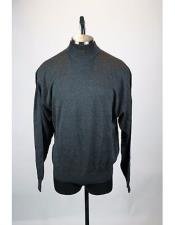 mens Gray Solid Pattern Silk