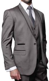 MG63 3 Piece Modern Fit Shark Skin Fashion Suit