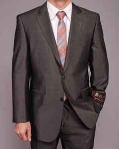 FR7412 Dark Gray Shiny 2-button Suit