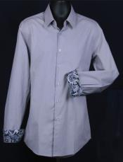 KA5537 Fancy Slim narrow Style Fit Dress Shirt -