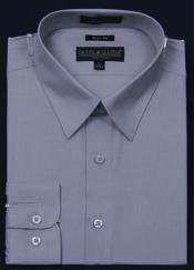 KA5671 Slim narrow Style Fit Dress Shirt - Gray