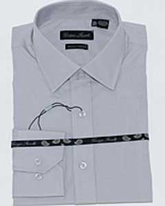 Gray Slim-Fit Dress Shirt