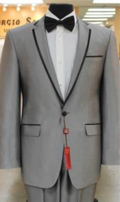 Grey~Gray Tuxedo 2 Button
