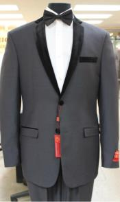 Grey~GrayTuxedo2ButtonStylenotchcollarorFormal