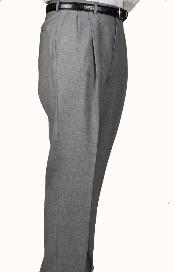 JK4078 100% Worsted Wool Fabric Gray Parker Pleated Slacks