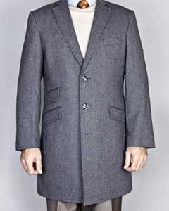 Gray Herringbone Tweed Wool Blend Single