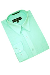 MC100 Mint Green Cotton Blend Dress Shirt With Convertible