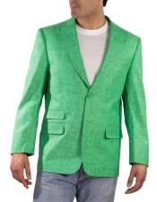 JSM-4953 Mens One Ticket Pocket Green Thread & Stitch