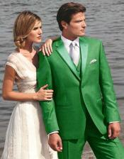 G5RE Stunning Green Two Button Tuxedo 7 days delivery