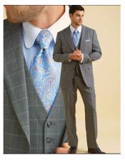 JSM-6150 Mens Classic Fit Grey 100% Wool Blend Vest