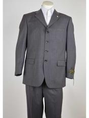 Product#SM980Grey4ButtonStyleNotchLapelClassicFit