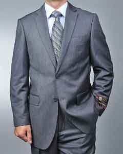 JK3699 Grey Pinstripe 2-button Suit