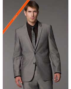 Product#WM9202GreyTonicSlimnarrowStyleFitSuit