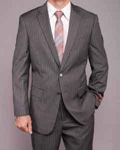 BN7411 Grey Stripe ~ Pinstripe 2-button Suit