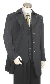 Grey Three Button 1940s mens
