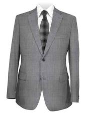 Medium Grey Notch Lapel Solid