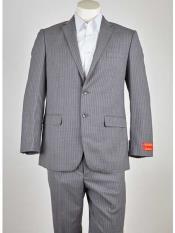 SM949 Men's Notch Lapel Grey/Lavender 2 Button Style Single