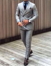 DB1 Alberto Nardoni Best Mens Italian Suits Brands Grey