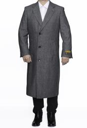 SM4803 Mens Full Length Wool Dress Top Coat /