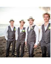 JSM-2860 Groomsmen Charcoal Grey ~ Gray Vest & Pants