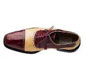 JSM-1606 Ferrini Handcrafted Alligator-Ostrich Black / Navy / Burgundy/