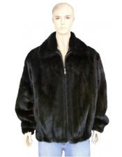 Mens Fur Black Genuine