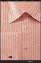 FrenchCuffDressShirt-HerringboneTweedStripeOrange