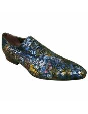 CH2424 Mens high fashion purple & Multicolor floral designed