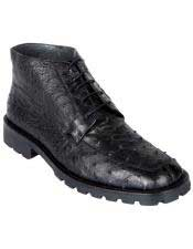 JSM-6434 Los Altos Mens Genuine Ostrich Dress Ankle Boots