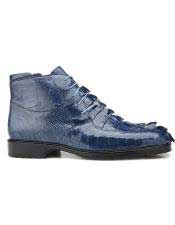 JSM-5753 Mens Genuine Hornback and Genuine Ostrich Blue Jean
