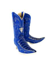 WD-A206 Mens Bota Imitacion Coco Panza Color Azul Dress