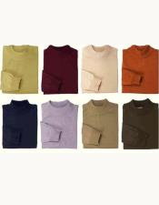 GD822 Mens Inserch Mock Neck High Collar Pullover Sweater