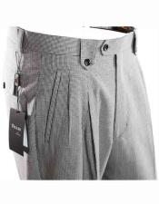JSM-1520 Mens Tiglio Italian Houndstooth Pattern Black/White Wide Leg