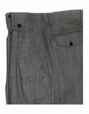 JSM-1519 Mens Tiglio Italian Grey Birdseye Pattern Wide Leg